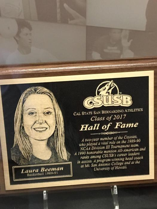 Laura Beeman Hall of Fame plaque